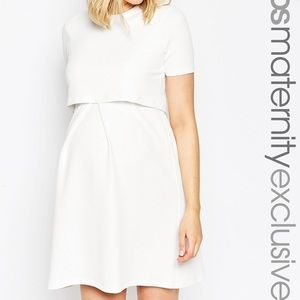 ASOS Maternity Dresses - ASOS Maternity NURSING Textured Skater Dress